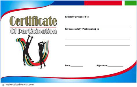 certificate of participation template pdf netball participation certificate templates 7