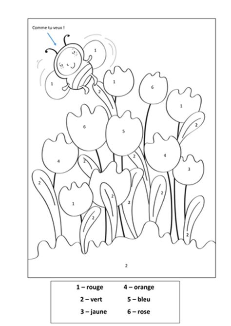 Colour By Number French Tulips By Rhysgriff92 Teaching Free Colouring Sheets Ks2