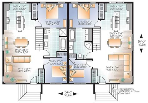Unique Duplex Plans by 76 Best Multi Unit Plans Images On