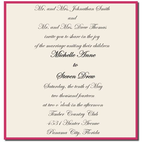 marriage invitation from and groom wording and groom wedding invitation wording
