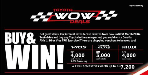 toyota interest rates toyota wow deals offer rebates and low interest rates