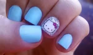 Hello kitty nail art design ideas 2015 for cute nails poonpo