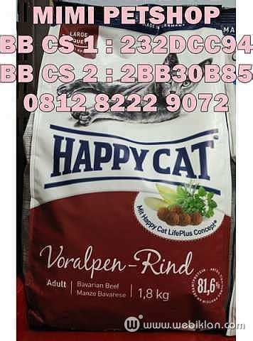 Happy Cat Supreme 10 Kg Atlantic Salmon jual makanan kucing cat food happy cat murah bisa kirim jakarta web iklan