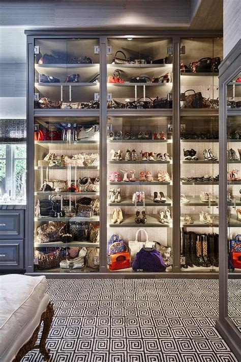 Shoe Closet With Doors Walk In Closet With Paneled Bi Fold Wardrobe Closet Doors Transitional Glass Bag Cabinet Design Ideas