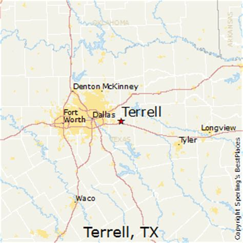 terrell texas map best places to live in terrell texas