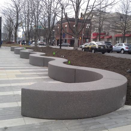 concrete seating bench streetscapes
