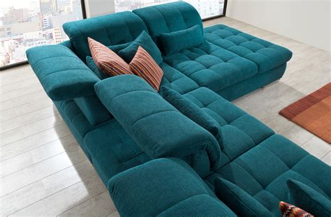 sofa wohnlandschaften teal sectional sofa sectional sofa 3pc in teal fabric by