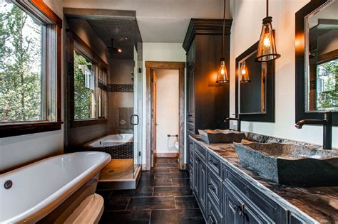 peak  circle rustic bathroom denver