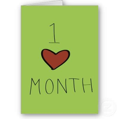 Happy 1 Month Birthday Card Lely S Diary Happy One Month Anniversary Hunny
