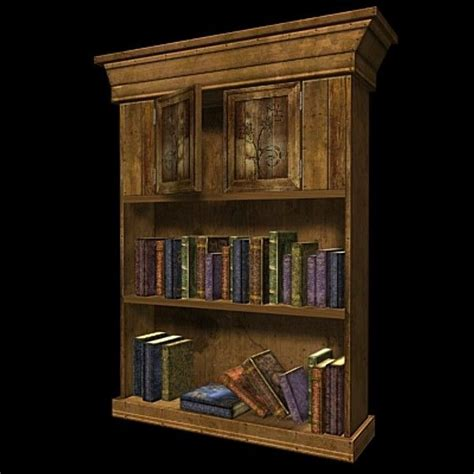 3d realtime bookshelf books 20 3d models low poly