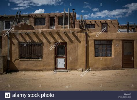 pueblo adobe houses adobe houses sky city acoma pueblo new mexico stock