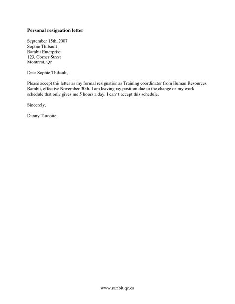 Resignation Letter Format For Finance resignation letter poper resign letter format simple