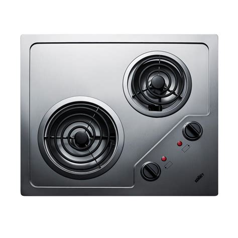 stainless steel cooktop electric ge 30 in coil electric cooktop in stainless steel with 4