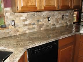 granite countertops with subway tile backsplash home