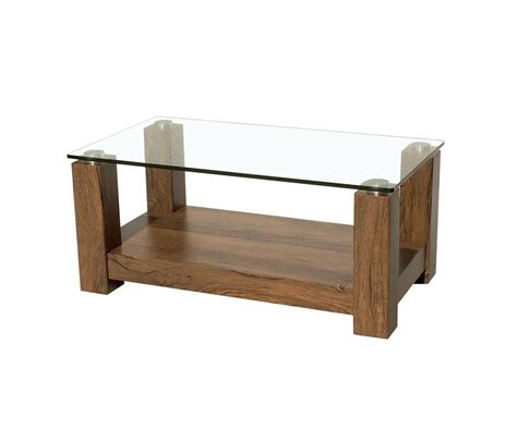 wallace small glass coffee table antique oak colour