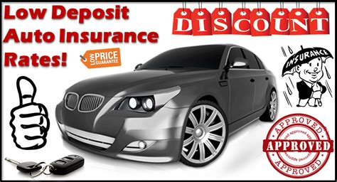 Low Rate Auto Insurance by Get Low Deposit Auto Insurance Policy With Lower Premium
