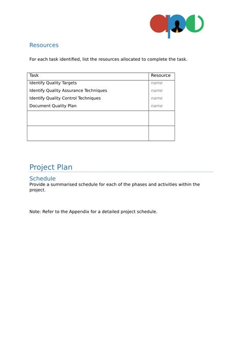 project design template project plan template 09 ape project management