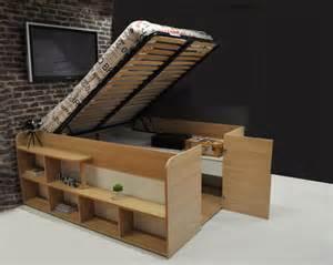 lit bois massif avec rangement mzaol