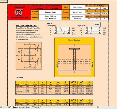 Steel Beam Design Spreadsheet by Engineering Spreadsheets For Structural Sling Design