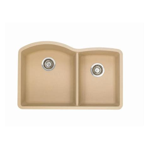 blanco kitchen sink shop blanco diamond 20 843 in x 32 in biscotti off white