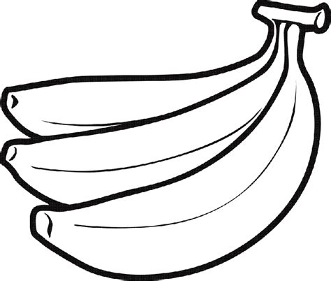 banana coloring page free printable coloring pages banana clipart black and white free clipart images