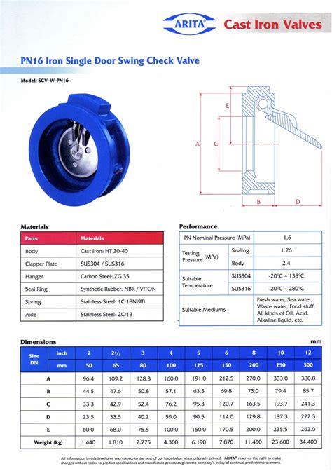 Check Valve Wafer Ss316 Single Door 4 Pn40 Interflow single door swing check valve pn16 unimech marine