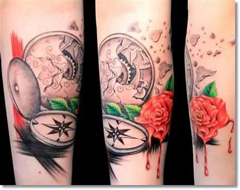 melting rose tattoo 45 outstanding pocket tattoos made golfian
