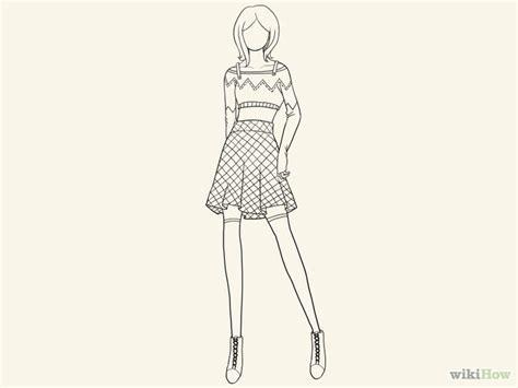 desain baju untuk pemula cara menggambar sketsa mode musthafida