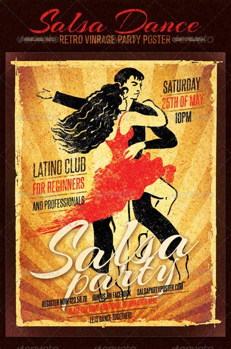 vintage dance party salsa dance club retro vintage party poster by subtropica