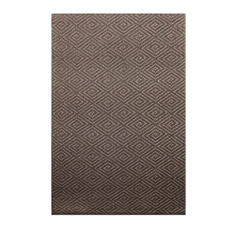 sisal chunky jacquard brown 4 ft x 6 ft indoor area rug