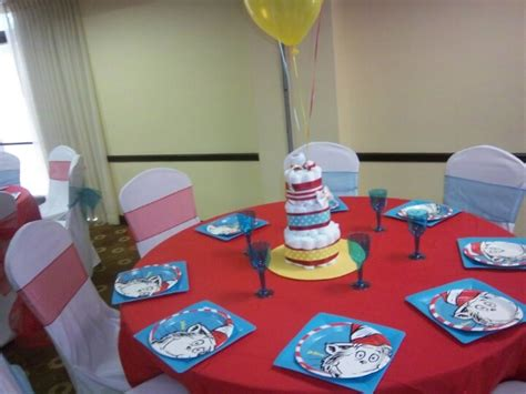 dr seuss baby shower decorations and