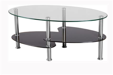 Glass Furniture The Oval Glass Coffee Table For Minimalist Home Concept