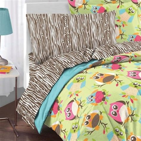 owl comforter set bed dressing pinterest