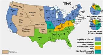 Civil War States Map by The Abraham Lincoln Blog Presidential Election Of 1860