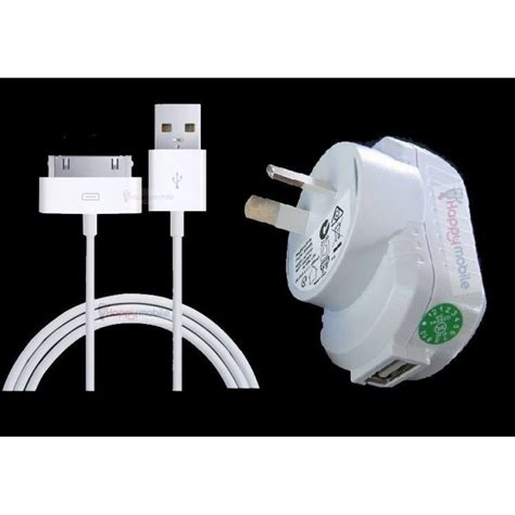 Apple Cable Charger Iphone 4 4s 2 White iphone 4s 4 3gs 1 2 ipod wall charger usb 30 pin cable