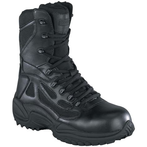 reebok s 8 quot waterproof side zip stealth tactical boots