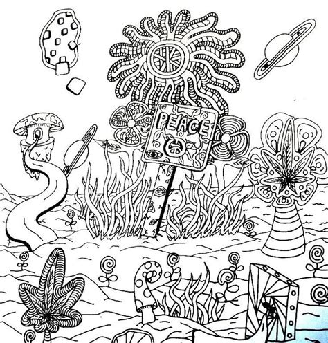 Trippy Coloring Pages Printable Peace Sign Drawing Trippy Printable Coloring Pages