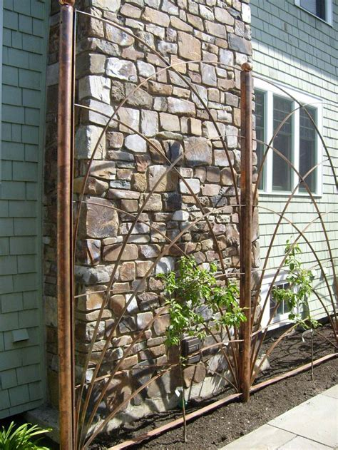 Copper Pipe Trellis pin by deanna blanchet on for the home