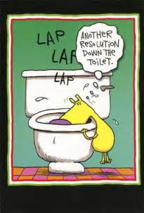 resolution toilet 12 funny boxed new year cards by