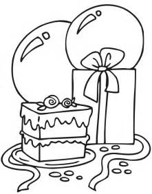 birthday balloons coloring pages coloring home