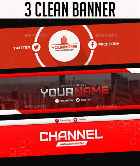 layout banner youtube psd 30 new youtube layout banner templates psd 2016