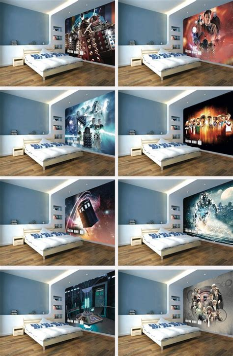 tardis bedroom doctor who wallpaper mural new tardis interior