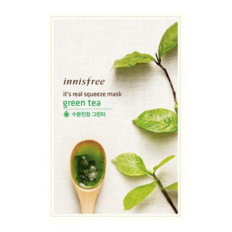 It S Real Squeeze Mask Green Tea 1sheet 20ml Masker Murah best seller innisfree