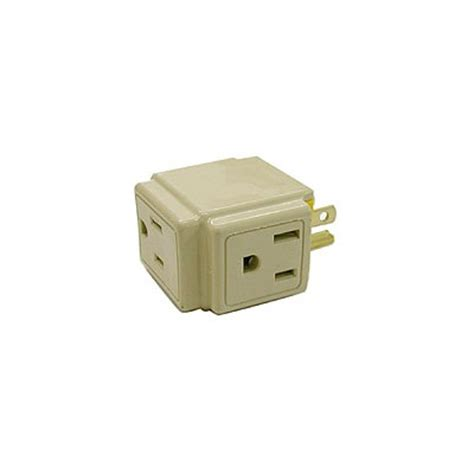 1482v 3 outlet tap 3 wire white