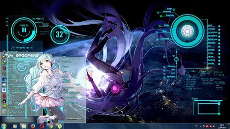 rainmeter themes kali linux anime batch vocaloild hatsune miku rainmeter