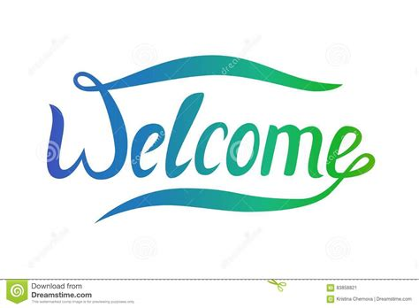 design banner welcome the word welcome for your design vector banner with