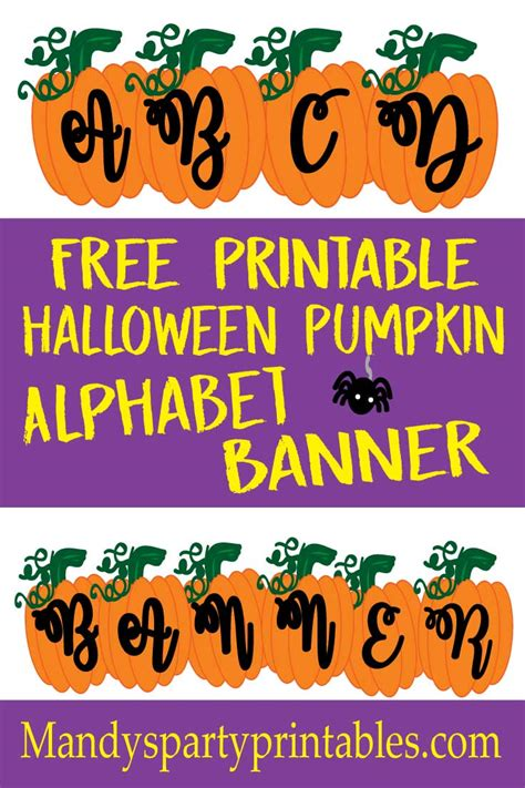printable pumpkin banner pumpkin halloween banner abc mandy s party printables