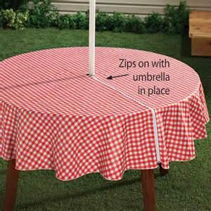 Patio Table Tablecloth Zipper Zippered Table Cloth Umbrella Table Cloth Kitchen