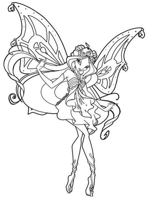 winx club pixies for pinterest coloring home