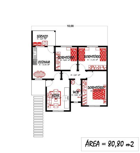 casate onlain plantas de casas 80 m2 3 tipos